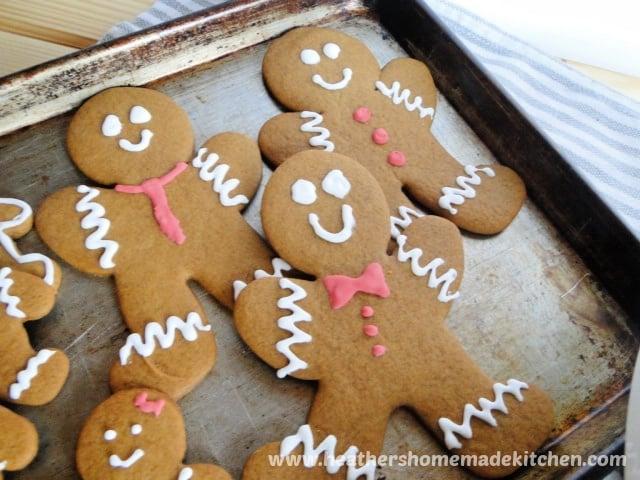 Gingerbread Men Cookies on sheet pan