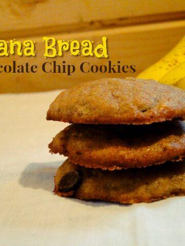 Banana Bread Chocolate Chip Cookies