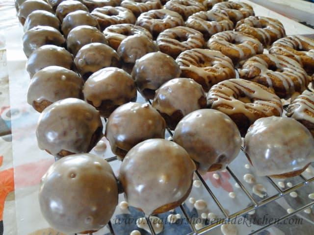 Pumpkin Donuts with Maple Cinnamon Glaze