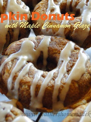 Pumpkin Donuts Maple Cinnamon Glaze