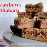 Strawberry Rhubarb Oat bars
