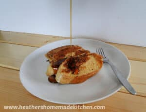 Favorite French Toast with Syrup drizzle
