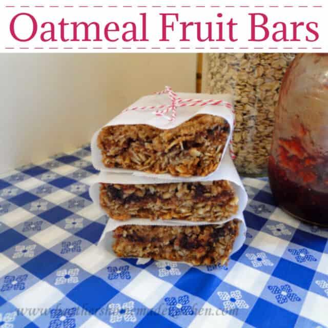Oatmeal Fruit Bars Pin Image