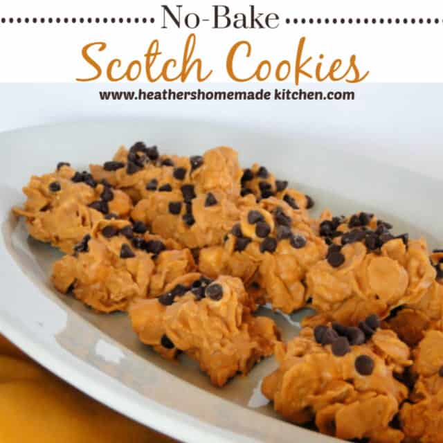 No Bake Scotch Cookies Pin for Later