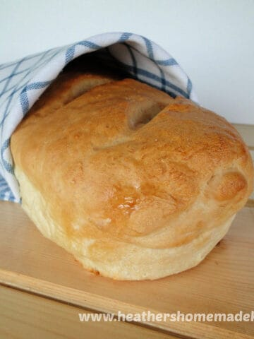Front view of Homemade French Bread.