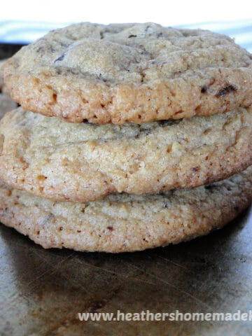 Stack of 3 Chocolate Chunk Cookies
