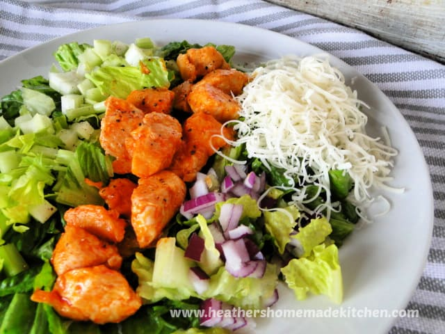 Buffalo Chicken Salad with celery, red onion and shredded provolone cheese.