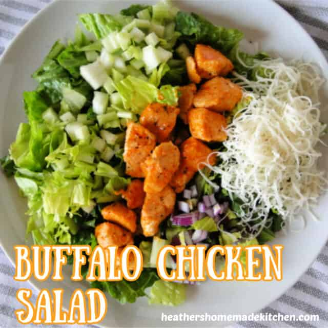 Top view of Buffalo Chicken Salad