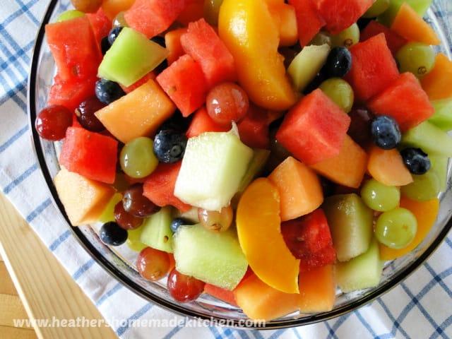 Top View Summer Fruit Salad
