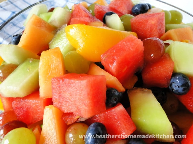 Close up view of Summer Fruit Salad