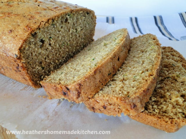 Close up of view of sliced Classic Zucchini Bread