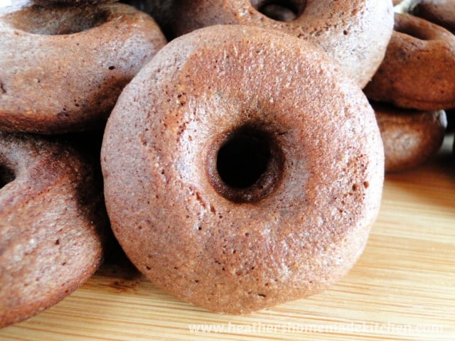 Close up view of Chocolate Mini Donuts