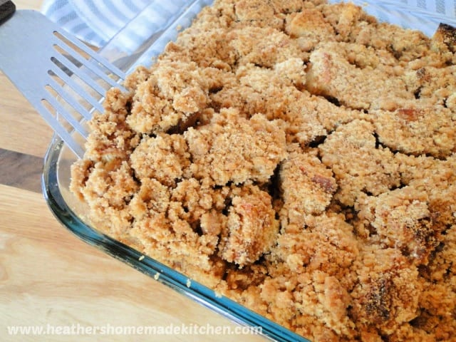 French Toast Casserole in baking dish.