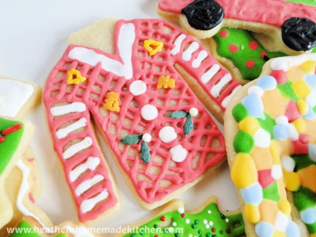 Sugar Cookie Cut Outs decorated ugly sweater