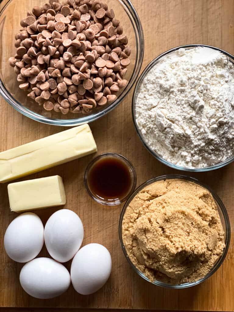 Butterscotch brownies ingredients.